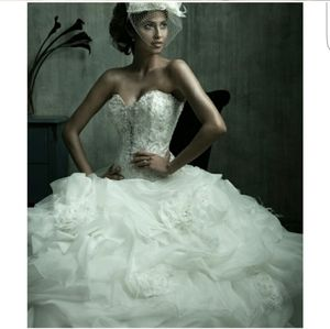 Beautiful off white allure couture wedding dress